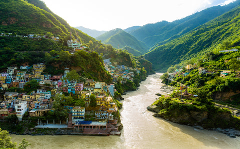 Aranyani is the confluence of 'being inspired by nature' and being' informed by India' just as the holy river Ganges is the confluence of the rivers Alaknanda and Bhagirathi.