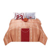 4 Piece Polyester Full Comforter Set with Basketball Court Print, Multicolor