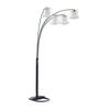 Metal Arch Tree Floor Lamp with Chandelier Design Shade, Black