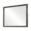 45 Inch Transitional Rectangular Wood Frame Mirror, Dark Gray