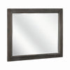 Plank Wooden Frame Mirror with Mounting Hardware, Taupe Brown