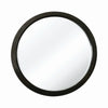 Contemporary Round Wooden Frame Mirror with Mounting Hardware, Black