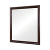 Molded Wooden Frame Mirror with Mounting Hardware, Dark Brown