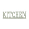 KITCHEN Word Carved Out Wooden Tabletop Decor, Gray