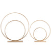 Metal Concentric Circle Sculpture with Rectangular Base, Set of 2, Gold