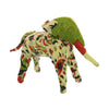 10 Inches Fabric Wrapped Decorative Elephant Figurine, Multicolor