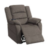 41 Inch Fabric Power Recliner with Pillow Top Armrests, Brown