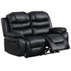 42 Inch leatherette Reclining Loveseat with USB Port, Black