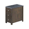 Wooden Side Table with 3 Spacious Drawers, Brown and Black