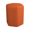 Hexagonal Shaped Fabric Stool with Padded Seat, Orange