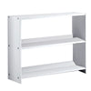 36 Inch Transitional Style Wooden Bookshelf, White