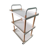 Scandinavian Style Trolley Cart with handle (3-Tier)