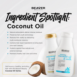Beaver Coconut Oil and Milk Conditioner - 350ml (for Normal to Dry Hair)