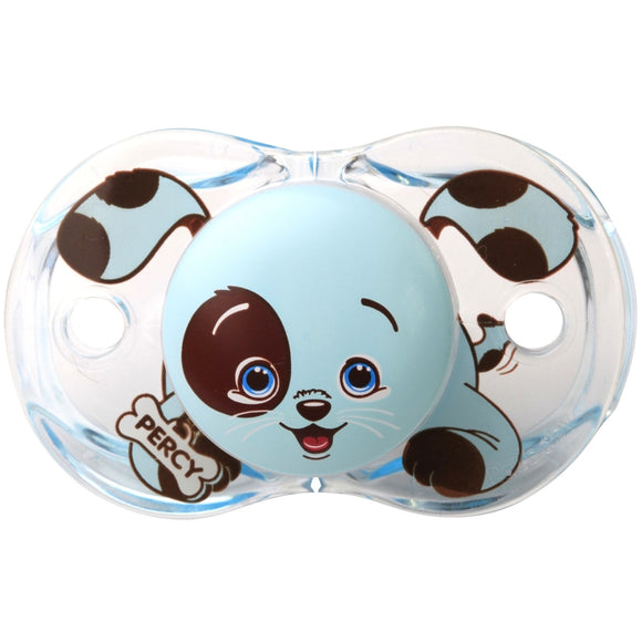 RazBaby Keep-It-Kleen Pacifier – Percy Blue Puppy