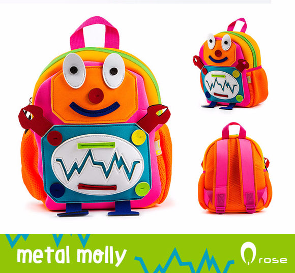 Qrose Pet Backpack: Metal Molly The Robot