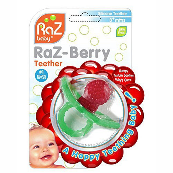 RaZBuddy Paci Holder – RaZ-Berry Red Teether