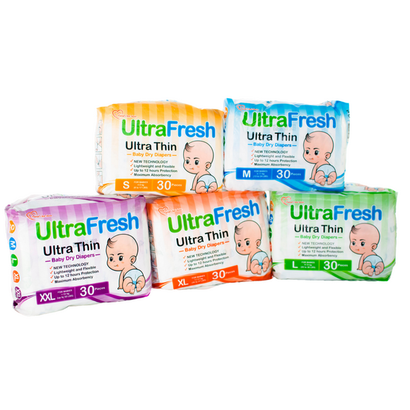 Ultrafresh Ultra Thin Baby Diapers (pack of 30s)