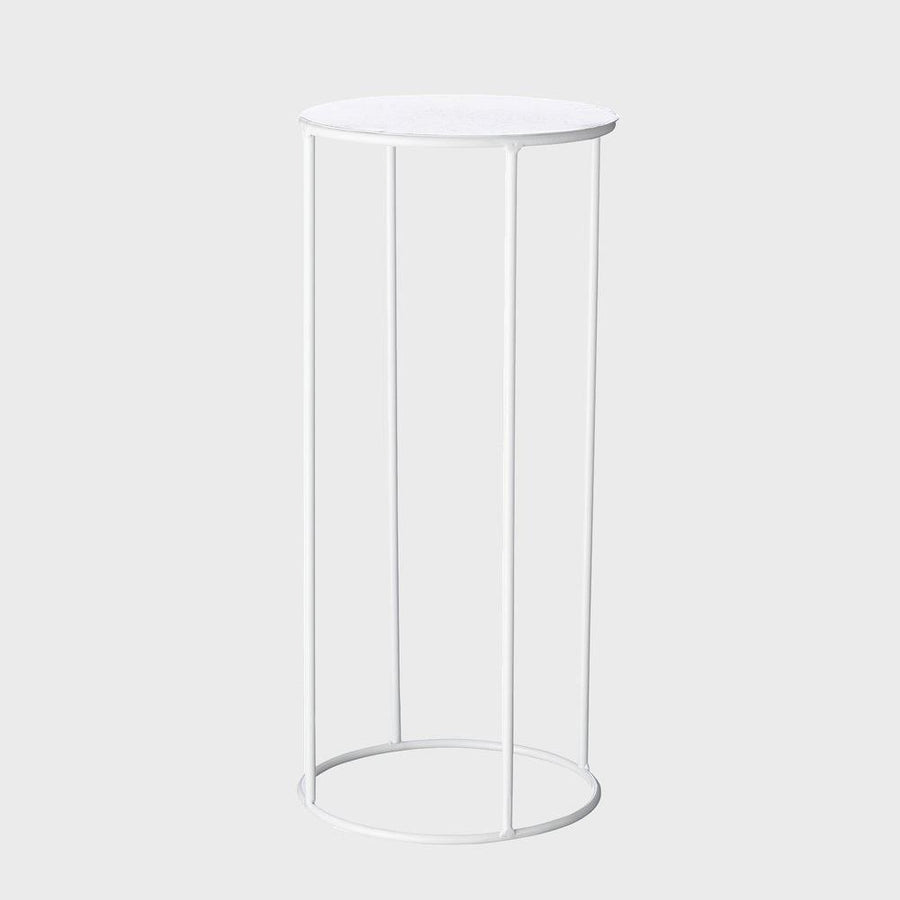 Lotus Plant Stand in White by Evergreen Collective