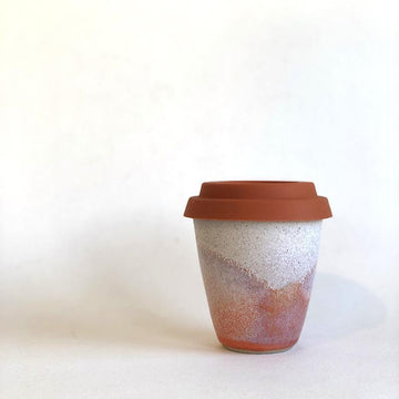 Pink Sunset Travel Cup by Arcadia Scott