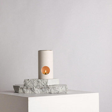 Limestone Synergy Oil Burner by Addition Studio