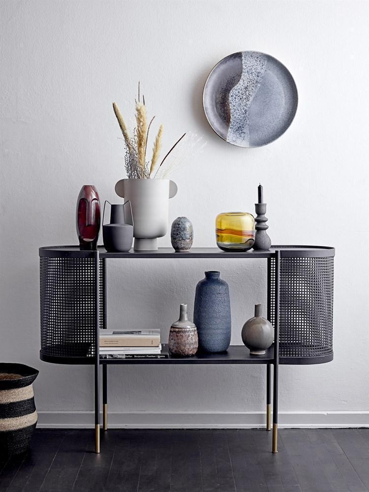 Roxy Grey Metal Vase