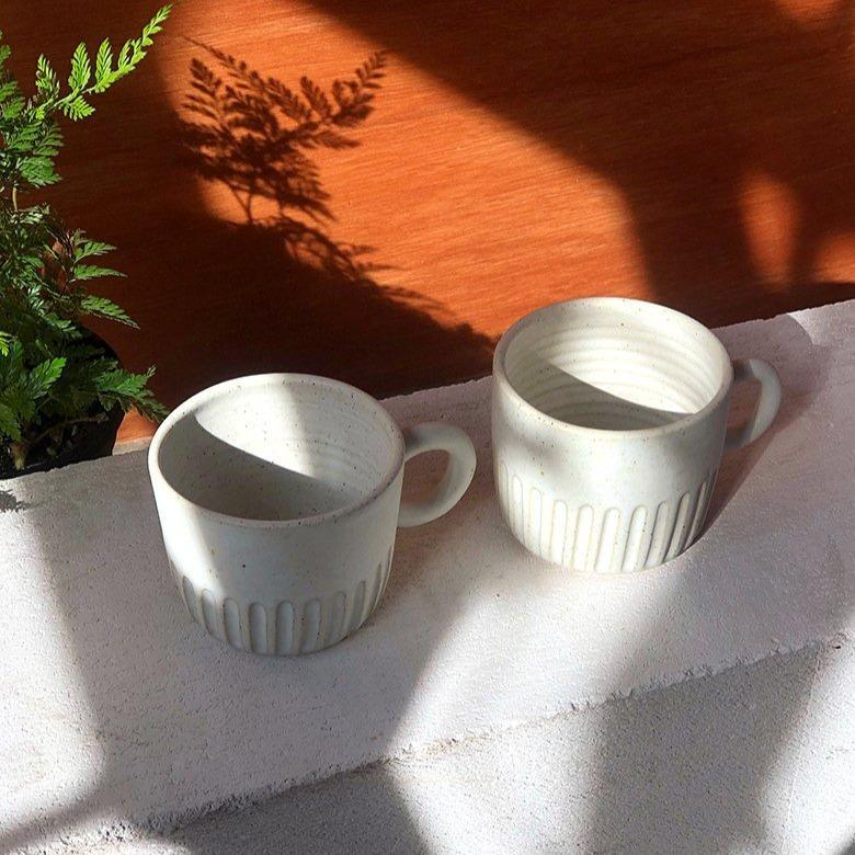 Short Fluted Cup by Arcadia Scott