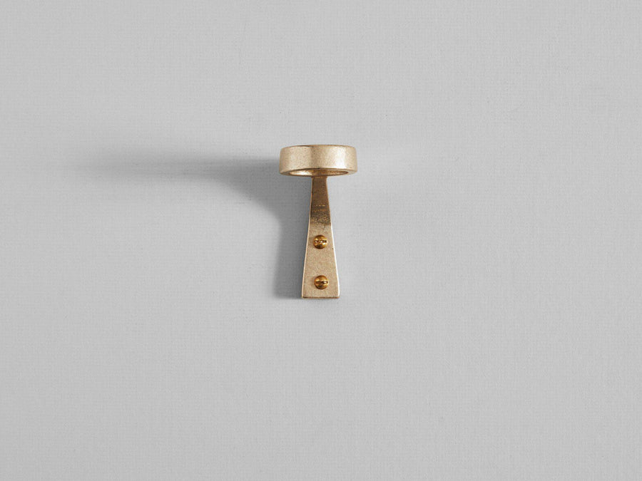 Solo Bottle Bracket Brass by Henry Wilson