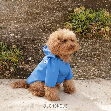 Sarah Dog Raincoat in Plain French Blue by The Painter's Wife