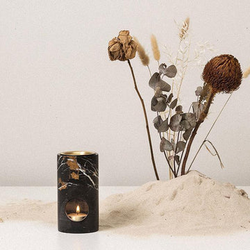 Black Earth Synergy Oil Burner by Addition Studio
