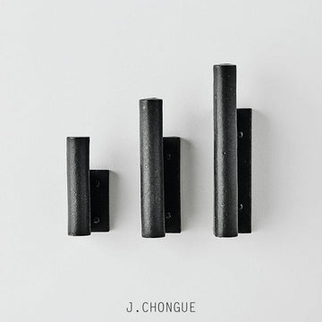 Charcoal Wall Hook by Anchor Ceramics glazed handmade minimal hardware J Chongue