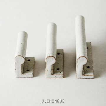 Grey Wall Hook by Anchor Ceramics