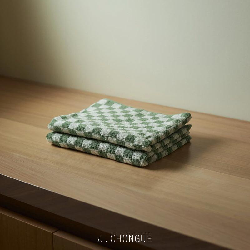 Josephine Hand Towel in Sage & Chalk by Baina
