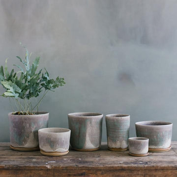 Moss Green Planter by Leaf & Thread