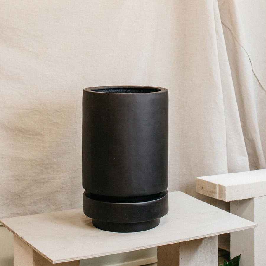 Tall Pier Planter Black by The Plant Society