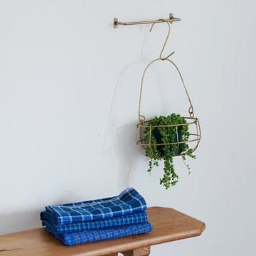 Brass Hanging Basket by Fog Linen