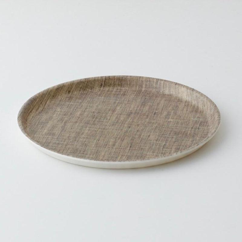 Linen Coated Round Tray by Fog Linen