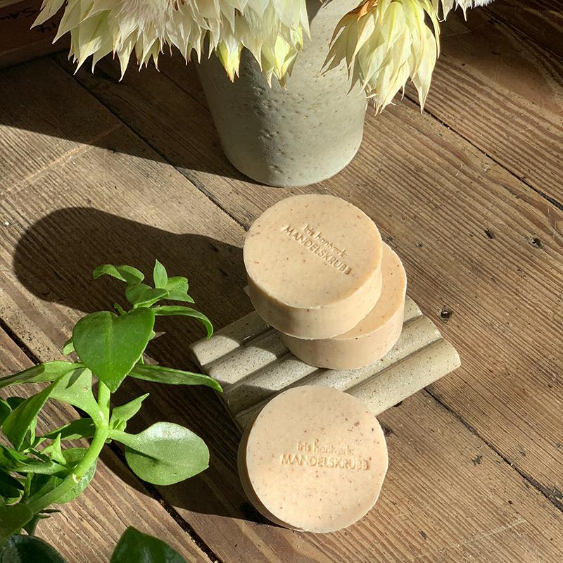 Round Soap Almond by Iris Hantverk - THE PLANT SOCIETY ONLINE OUTPOST