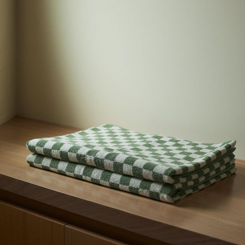 Beppu Bath Mat in Sage & Chalk by Baina