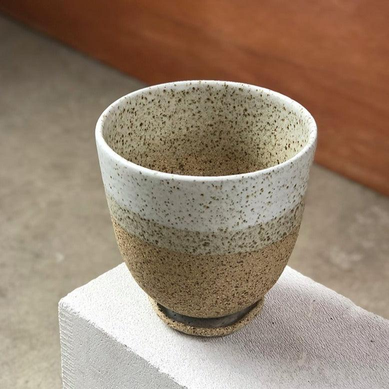 Stone Round Planter by Lisa Peri