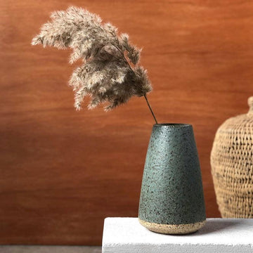 Duck Egg Speckled Vase by Lisa Peri