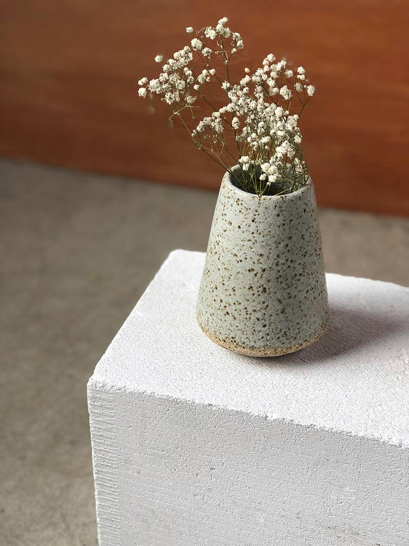 Grey Speckled Vase by Lisa Peri