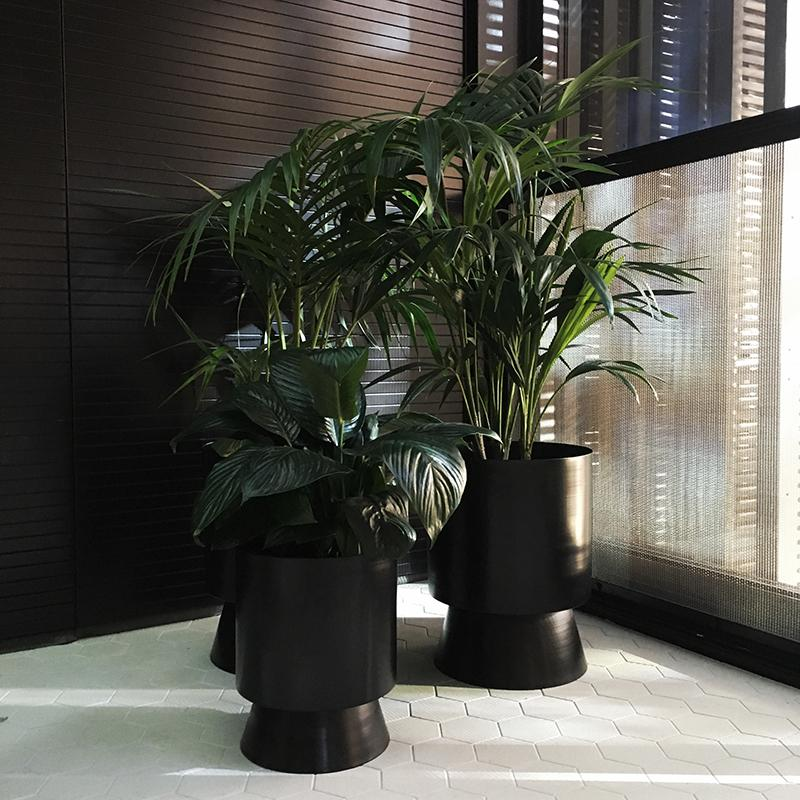Large Palm Springs Planter Black by Lightly Design