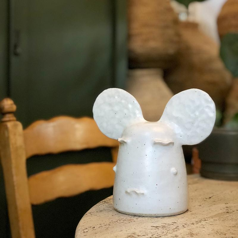 Mickey Medium Head Sculpture by Peta Armstrong Ceramics - THE PLANT SOCIETY ONLINE OUTPOST