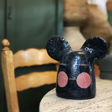 Mickey Pink Cheeks Medium Head Sculpture by Peta Armstrong Ceramics - THE PLANT SOCIETY ONLINE OUTPOST