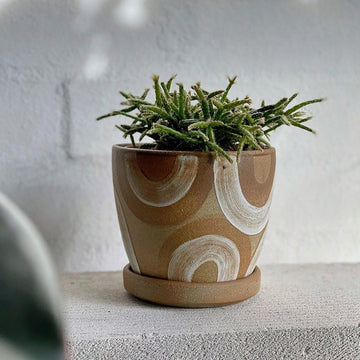 White U Wood Fired Planter by Sandra Bowkett