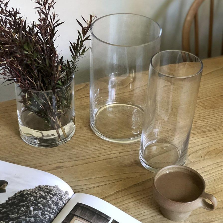 Simple Glass Cylinder Vase from Franc Flowers