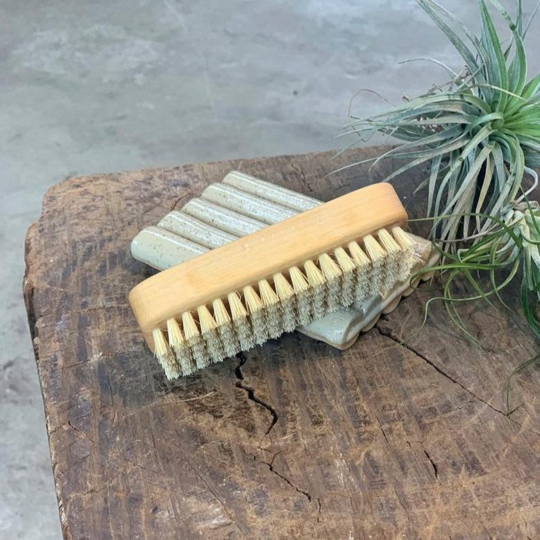 Wooden Gardener's Nail Brush - THE PLANT SOCIETY ONLINE OUTPOST
