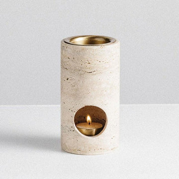 Travertine Synergy Oil Burner by Addition Studio