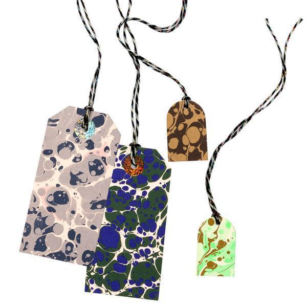 Marbling Season 'Stone Collection' Gift Tag Set by The Souvenir Society