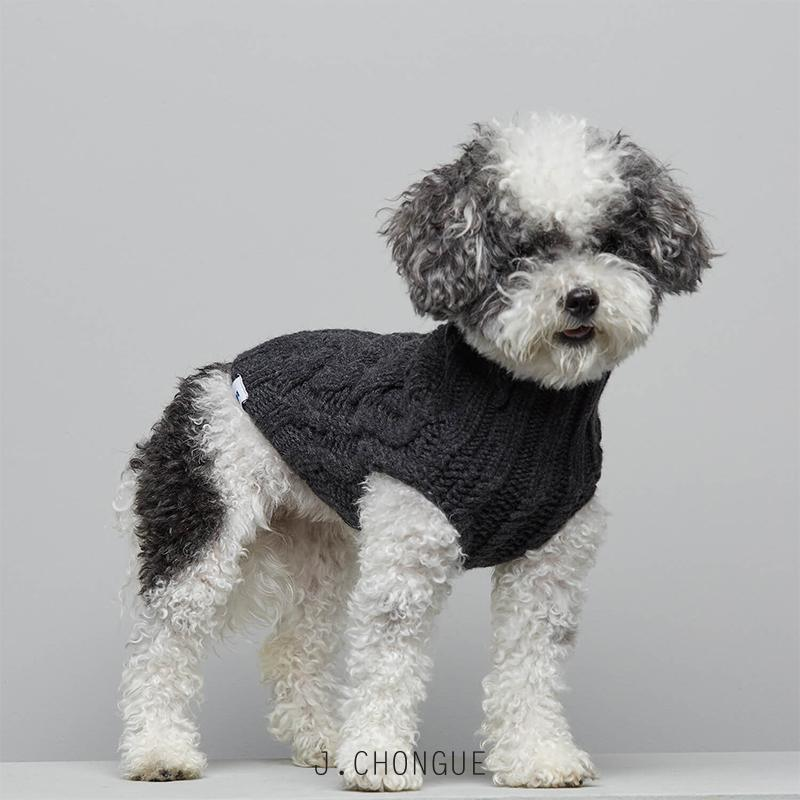 John B Dog Coat in Anthracite by The Painter's Wife